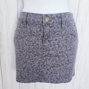 BCBGeneration Skirts - BCBG Generation Gray Skirt, Fruit Print Skirt